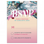 Bat Mitzvah Reply RSVP Card