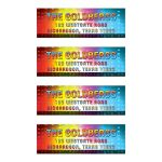 ​Unique light spectrum music Bar Mitzvah address labels or music Bat Mitzvah address labels