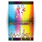 ​Unique light spectrum, heartbeat and music notes music Bar Mitzvah thank you card