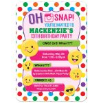 Emoji Teen Tween Texting Birthday Invitation for Girls