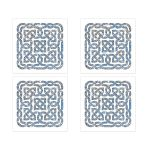 ​Beautiful sky blue and silver gray celtic knot wedding envelope seals