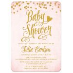 Blush Pink & Gold Baby Shower Invitations by The Spotted Olive