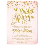 Blush Pink & Gold Bridal Shower Invitations by The Spotted Olive