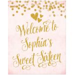 Blush Pink & Gold Party Welcome Sign by The Spotted Olive