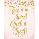Blush Pink & Gold Bridal Shower Treat Bar Sign by The Spotted Olive