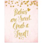 Blush Pink & Gold Baby Shower Treat Bar Sign by The Spotted Olive