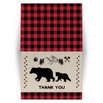 Buffalo Plaid Wilderness Bear Thank you note
