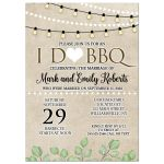 Post Wedding Barbecue I Do BBQ Wedding Invitations