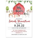 Farm Animals Baby Shower Invitations
