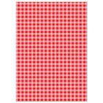 Red Checked Pattern Farm Animals Invitations