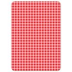 Red Checked Pattern Farm Animals Invitations