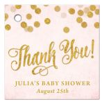 Blush Pink & Gold Baby Shower Thank You Favor Tags by The Spotted Olive