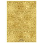 ​Navy Blue, white, and gold foil striped 40th wedding anniversary invites with formal gold chandelier.