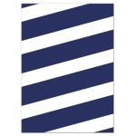 Navy Stripes & Gold Confetti Bat Mitzvah RSVP Cards by The Spotted Olive - Back