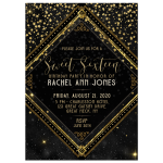 Sparkle Sweet 16 Birthday Party Invite