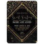 Sparkle Sweet 16 Birthday Party Invite