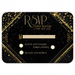 Black and gold rsvp cards (response)