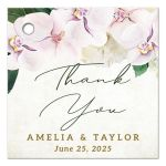 Pretty Blush Floral Favor Tags by The Spotted Olive