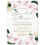 Pretty Blush Floral Bridal Shower Invitations by The Spotted Olive
