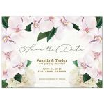 Pretty Blush Floral Save The Dates by The Spotted Olive