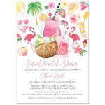 Beach Virtual Bridal Shower Invitations by The Spotted Olive