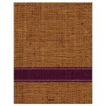 Best rustic orange and purple burlap autumn leaves wedding RSVP cards with twine bow.