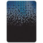 Blue gray black pixel computer techno font video game theme Bar Mitzvah invitation back