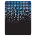 Blue, gray and black pixel computer techno font video game theme Bar Mitzvah RSVP Card back