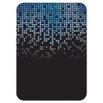 Blue, gray and black pixel computer techno font video game theme Bar Mitzvah reception card back
