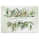 Watercolor Greenery Boho Wedding RSVP Reply Card