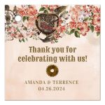 Vintage Floral Steampunk Wedding Gift Tags
