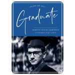 Signature Style Graduation Announcements by The Spotted Olive (Blue)