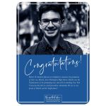 Signature Style Graduation Announcements by The Spotted Olive-Back (Blue)