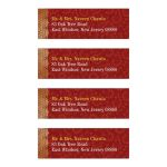 Indian Wedding Address Labels - Crimson Paisley Gold Gilded Edge