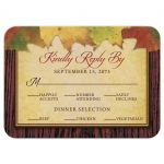 Rustic Autumn Leaves RSVP cards front - dinner by the spotted olive