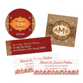 Wedding invitation mailing labels, seals, and more
