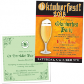 Invitations for Oktoberfest, St Patricks Day, Cinco de Mayo and more