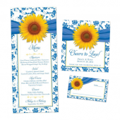 Wedding ceremony and reception stationery