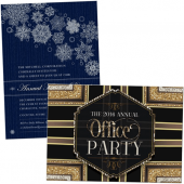 corporate office party, business open house, holiday party and fundraising invitations