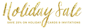 2015 Save 25% off holiday cards and invitations
