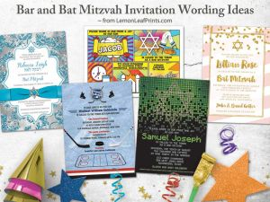 bar and bat mitzvah invitation wording ideas from Lemon Leaf Prints