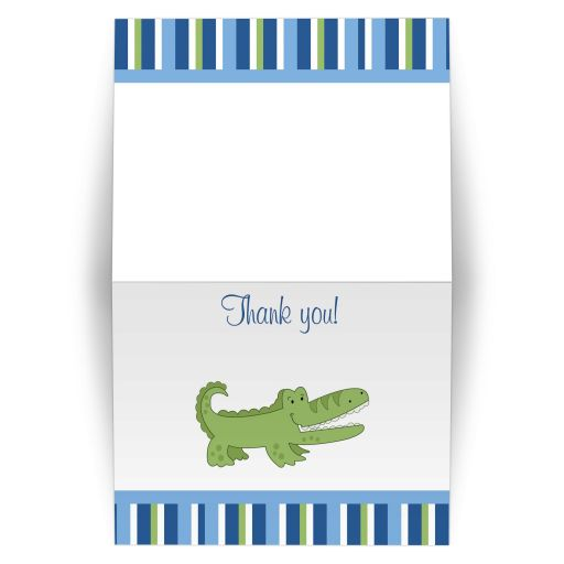 Alligator Folded Thank you note