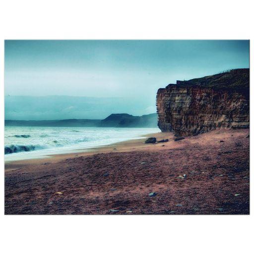 HDR coast cliffs art print