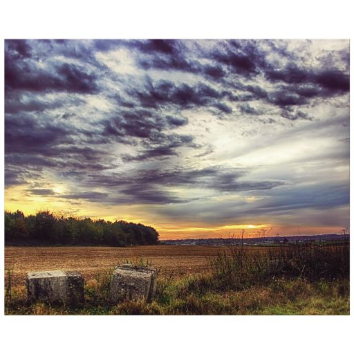 Rural sunset hdr landscape art print
