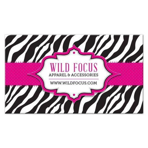 Business Card - Pink Ribbon Zebra Print
