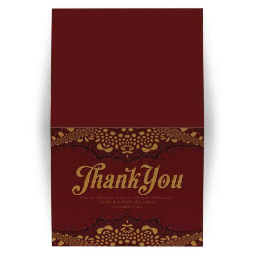 Earthy Tribal Chocolate Thank You Card