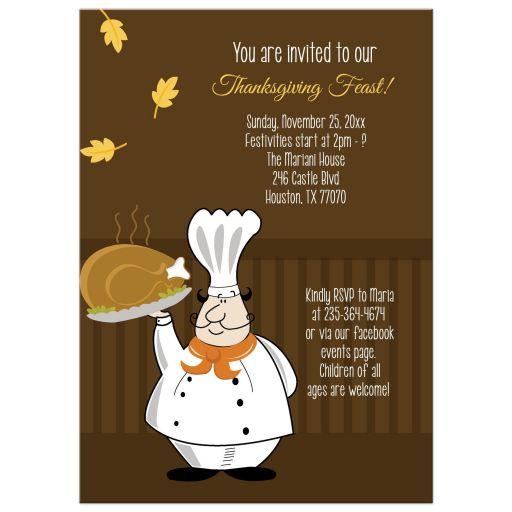 Thanksgiving Day Feast Dinner Invitation
