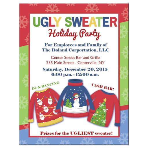 Ugly Sweater Company Holiday Party invitation