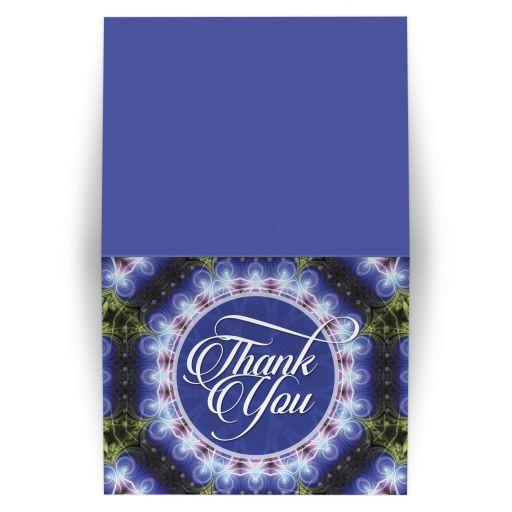 Indigo Blue Mandala Thank You card
