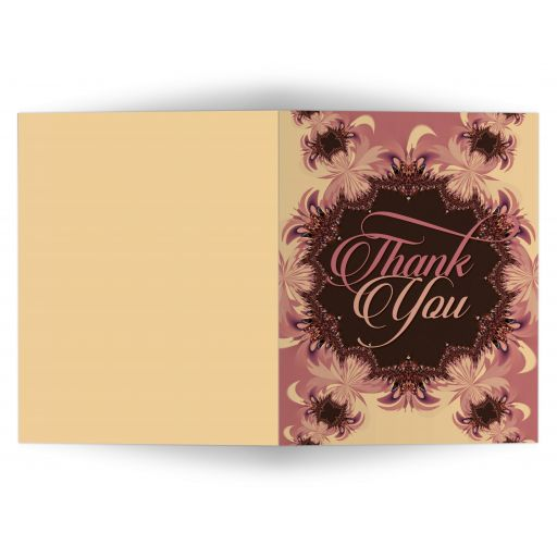 Pink Chocolate lace thank you card